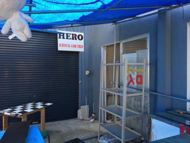 HEROウェアハウス入り口